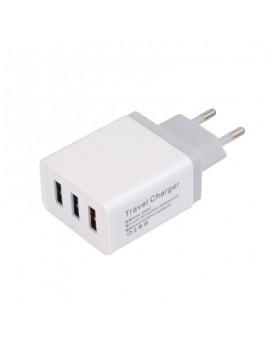 5V 2.4A 3 USB Wall Charger Travel Adapter Charging EU Plug